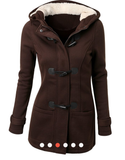 Warm coat hooded  for women - Jungleecart.com