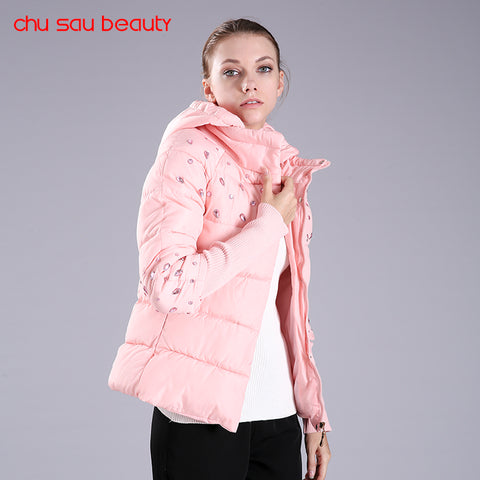 Women's Hooded Warm Parkas Coat