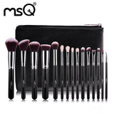 MSQ 15pcs Professional  High Quality Synthetic Hair Make Up Brushes - Jungleecart.com