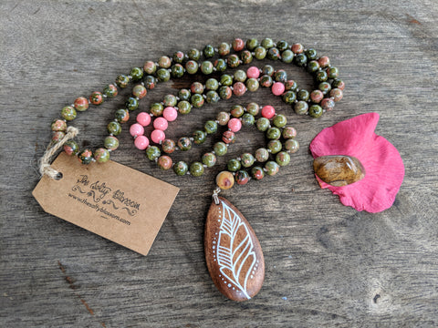 Unakite Mala - Necklace - The Salty Blossom