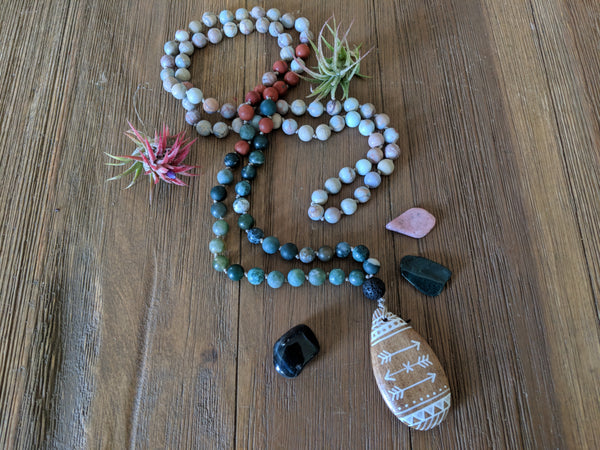 Jasper Mala - Necklace - The Salty Blossom