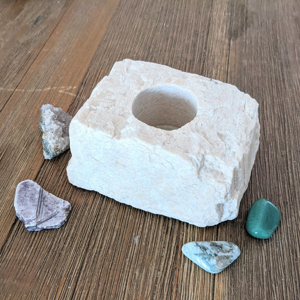 Feldspar Candle Holder