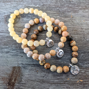 Energy Trio - Yellow Calcite, Agate, & Picture Jasper