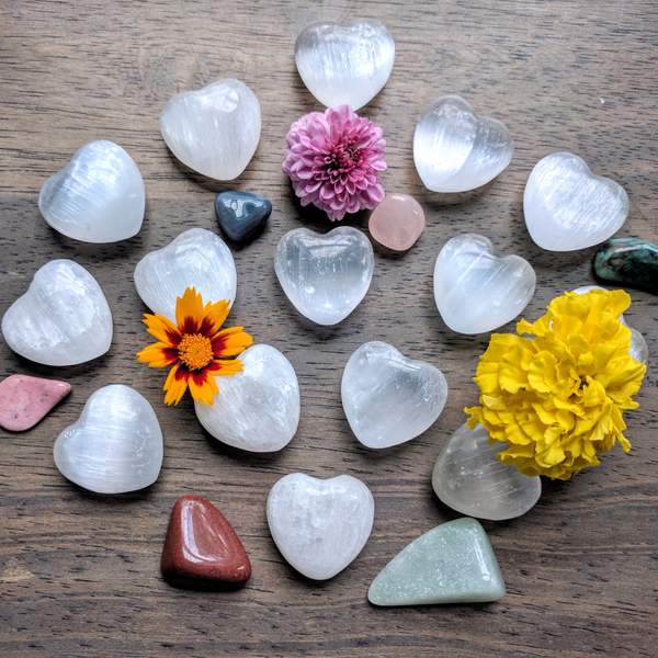 Selenite Mini Heart