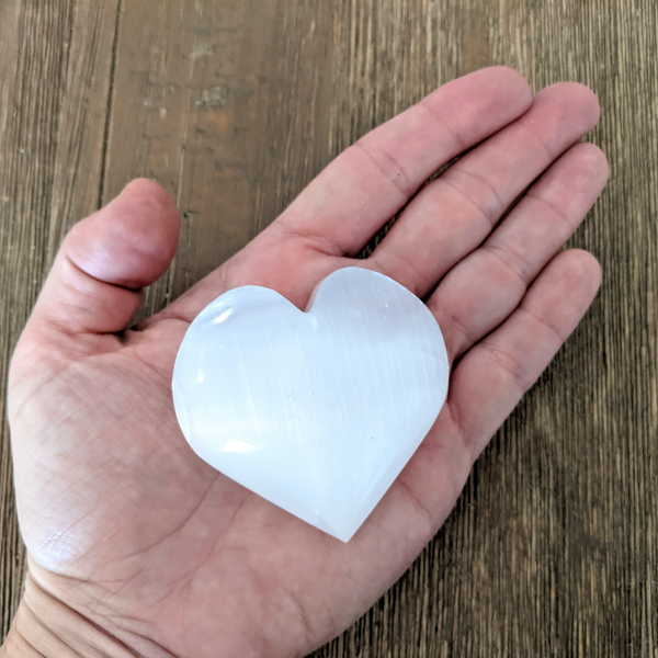 Selenite Heart (Medium)