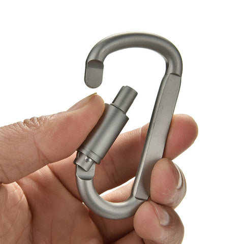 5 pcs Aluminum D-ring Locking Carabiner Light but Strong