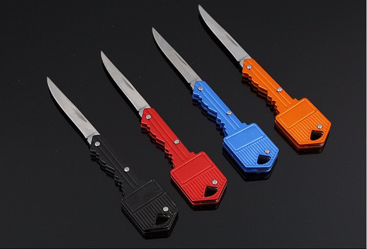Key Shaped Folding Pocket Knife