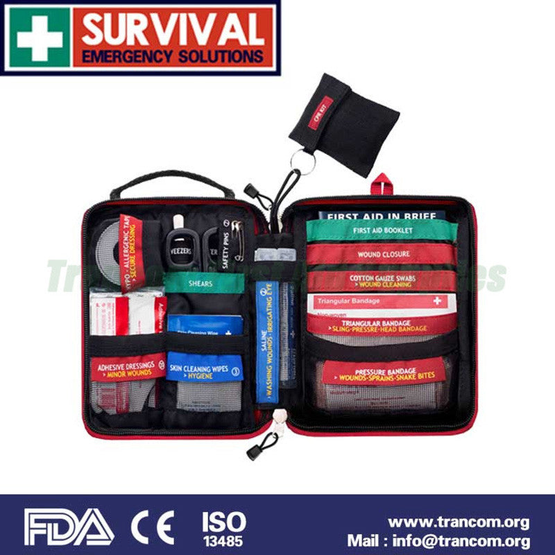 medical mini emergency survival first aid kit with fdace
