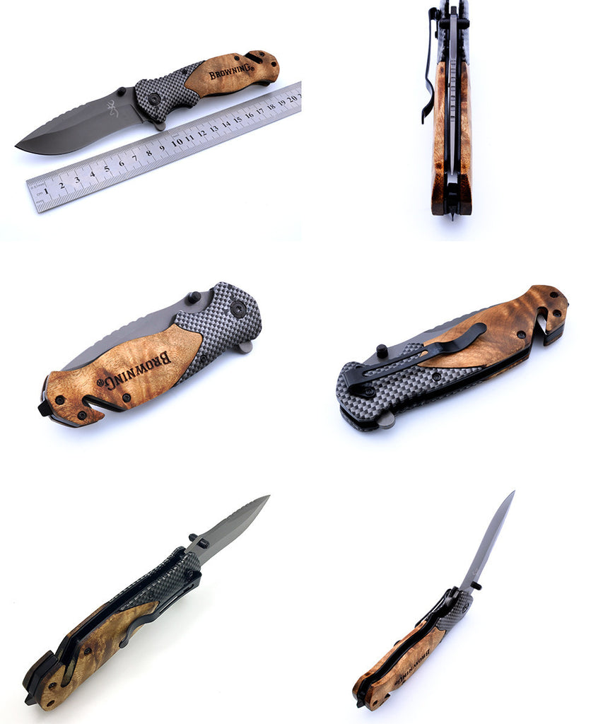 Tactical Survival Folding Titanium Pocket Knife