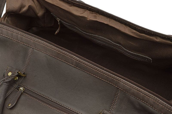... Holdall - Woodland Leathers Full Grain Leather Weekend Travel Bag    Holdall ... 85d7e96a716a2