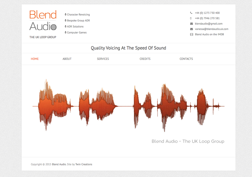 Blend Audio Web Photos