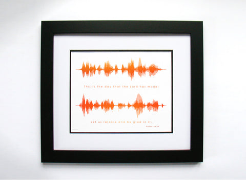 Scripture Sound Wave - Psalm 118:24 by BespokenArt