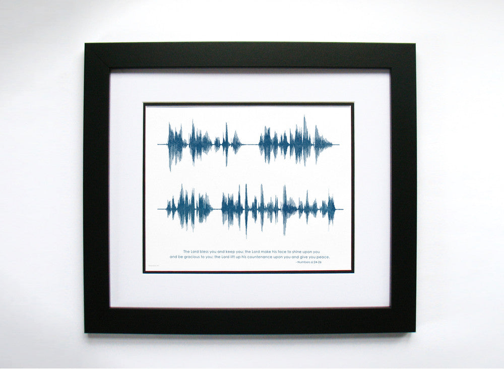 May the Lord Bless You... Bible Verse Sound Wave Art by BespokenArt (www.bespokenart.com)