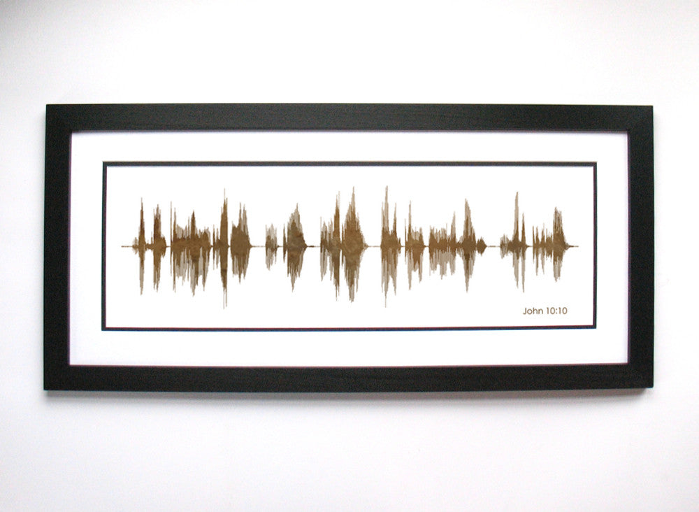 John 10:10 Sound Wave Art by www.BespokenArt.com