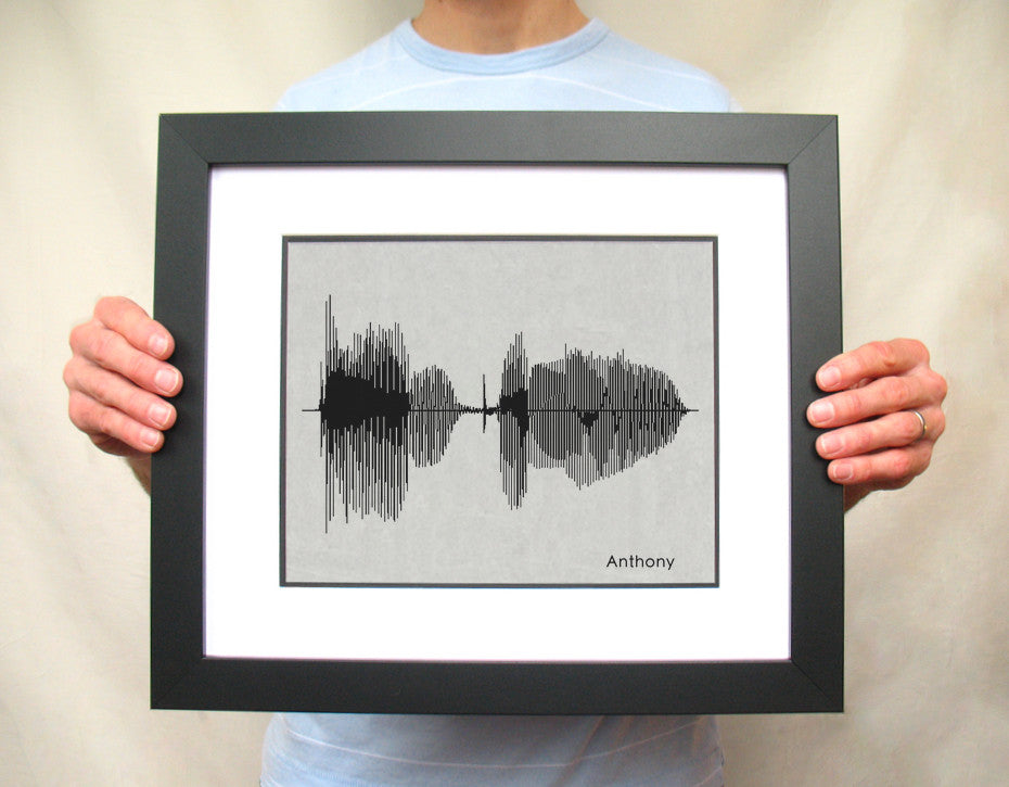 Anthony Name Sound Wave Portrait - BespokenArt