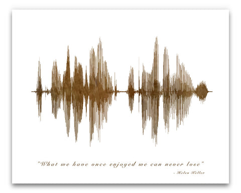 Helen Keller Quote in Sound Waves - Created by BespokenArt.com