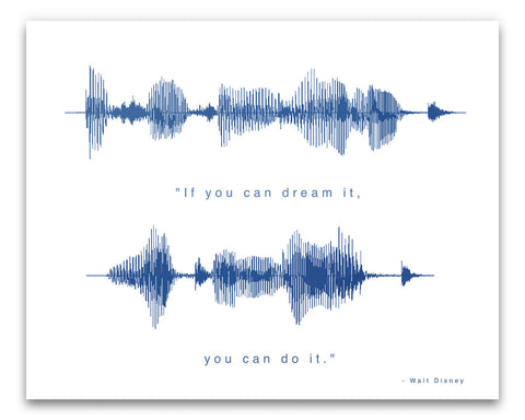 "Walt Disney Quote - ""If You Can Dream It, You Can Do It"" - Art Poster by BespokenArt"