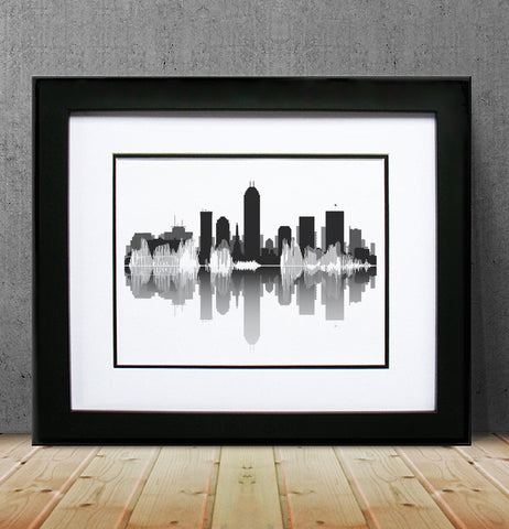 Indianapolis Skyline & Waveform Image by BespokenART.com