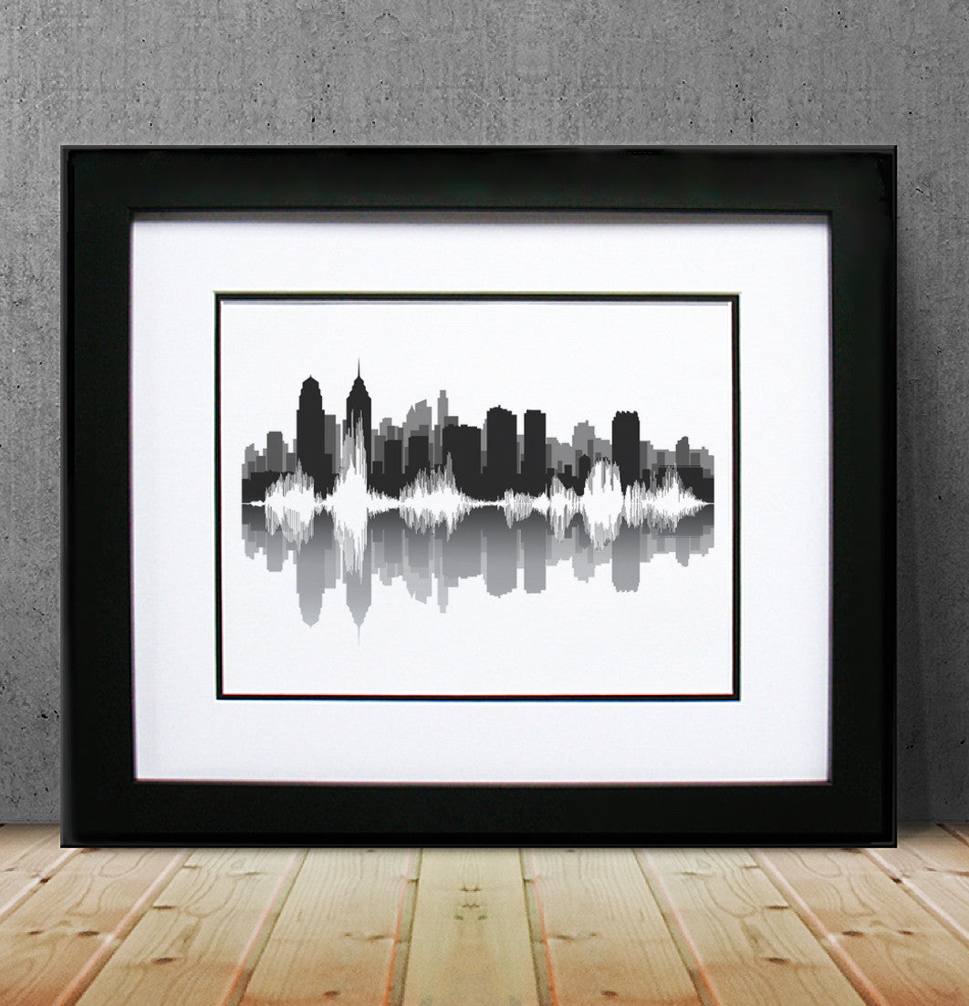Philly skyline with audio overlaid - BespokenART.com
