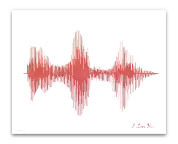 I Love You Art Print Poster And Sound Wave Design