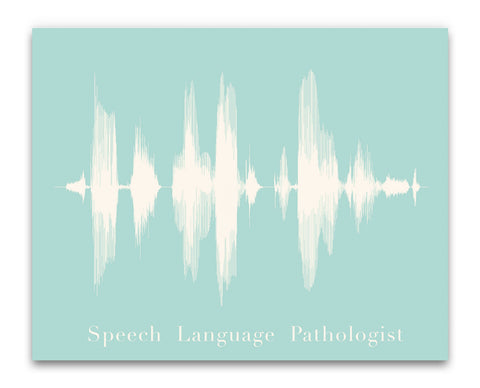 Speech Language Pathologist Waveform from Bespoken Art