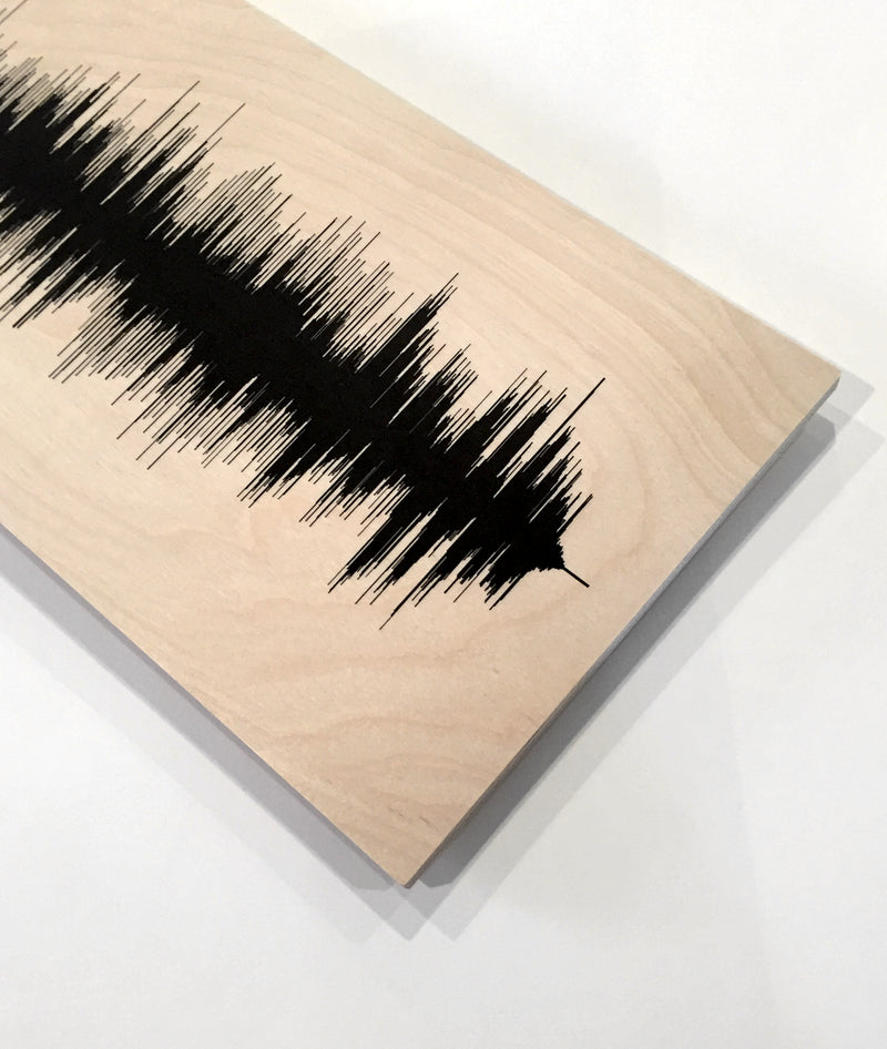 Custom - Wood Sound Wave Song