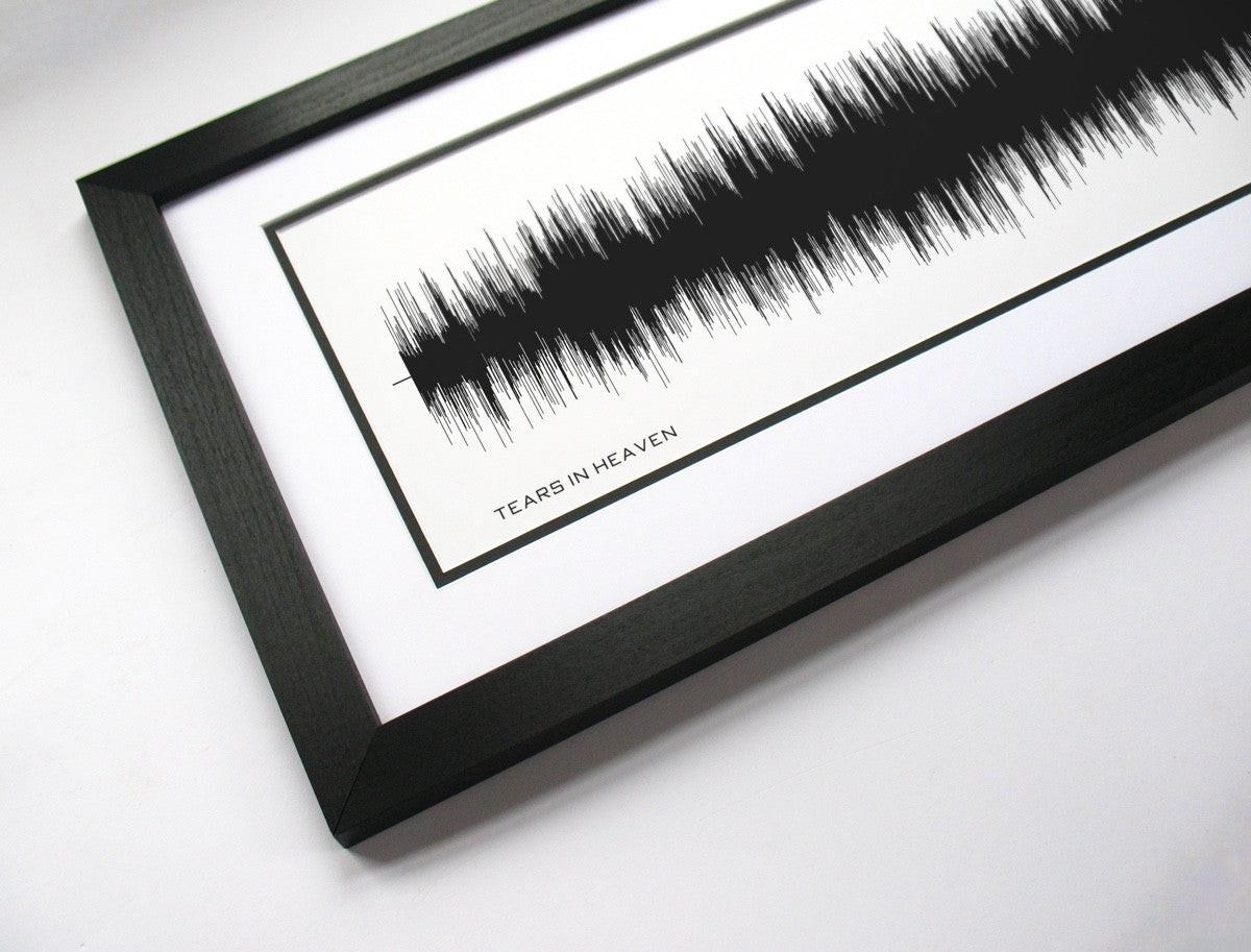 Sound Wave Art - Tears in Heaven by Eric Clapton (Bespoken Art)