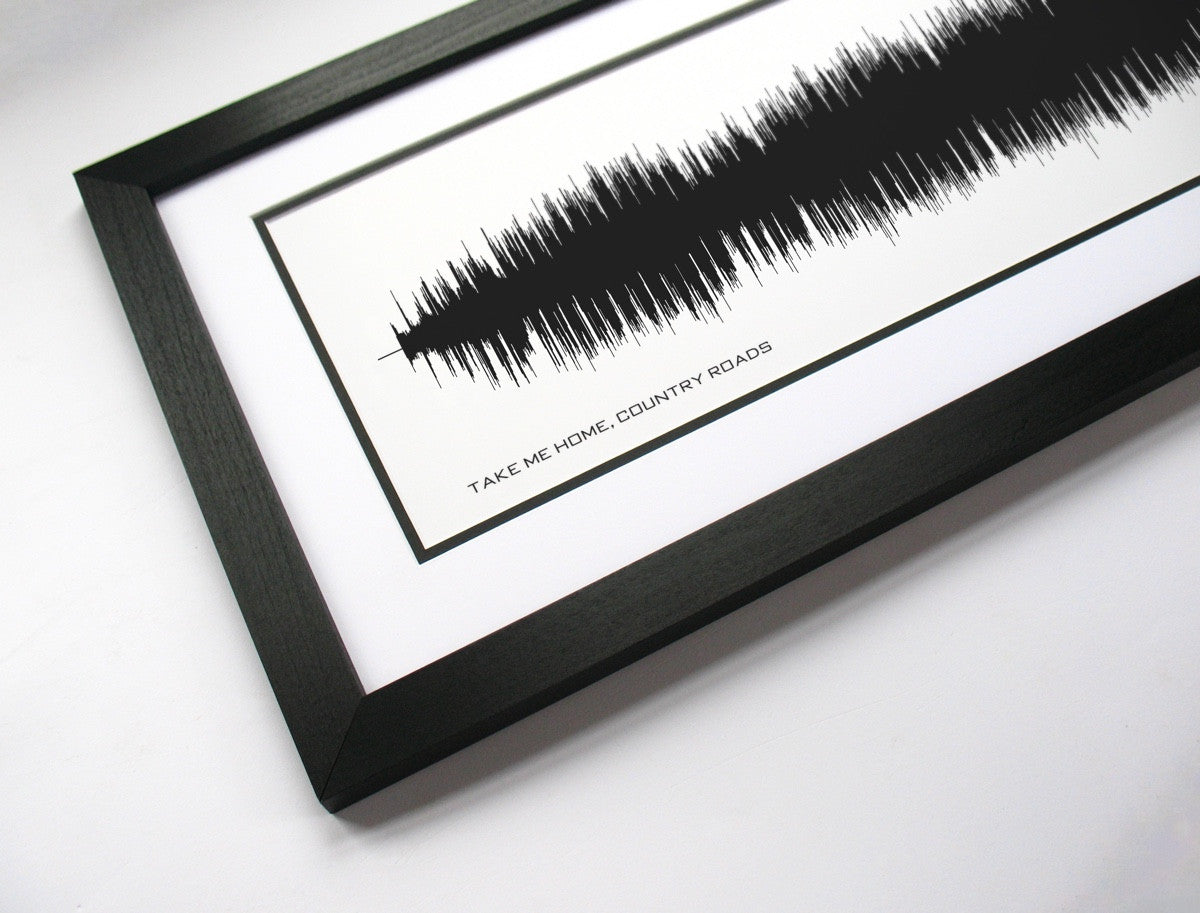 Take Me Home, Country Roads - John Denver Art Print from Sound Waves - Bespoken Art Design