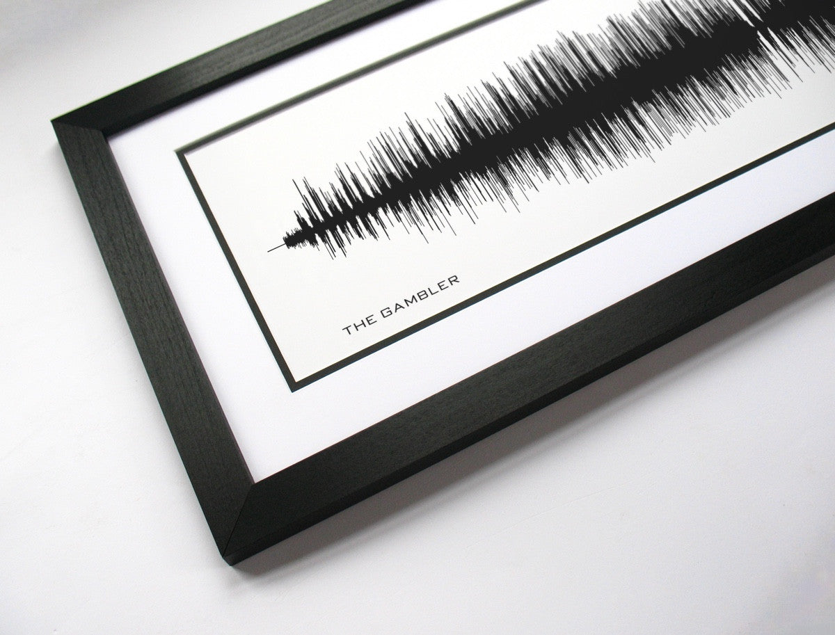 BespokenArt - Kenny Rodgers Voice Wave Audio Print