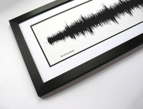 Leonard Cohen - Waveform Art Print by BespokenArt