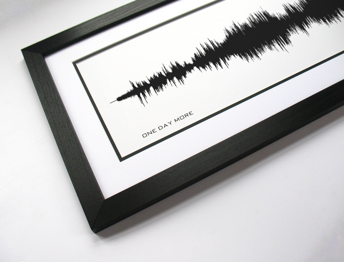 One Day More - Les Miserables (Sound Wave Art Print) - BespokenArt