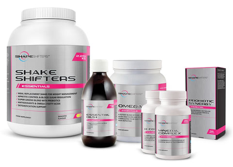 Meal Replacement Weight Loss Shake Banoffee, Omega 3 Fish Oil Capsules, EFA, Vitamin D, CoQ10, Probiotic, B Complex and Multi Mineral Complex