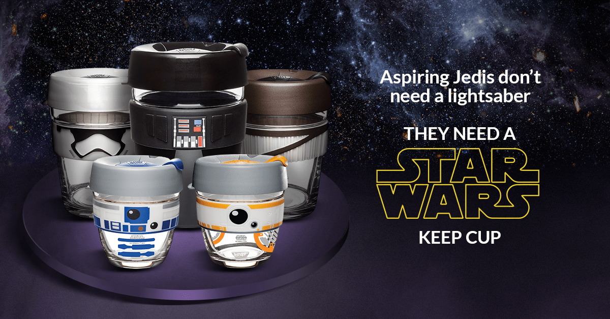 Aspiring Jedis don't need a lightsaber!  They need a Star Wars™ KeepCup™