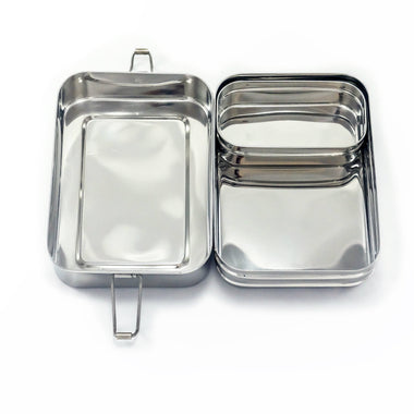 2-Tier GIANT Lunch Stacker and mini pod-Home & Garden > Kitchen & Dining > Food & Beverage Carriers > Lunch Boxes & Totes-Eqo Online