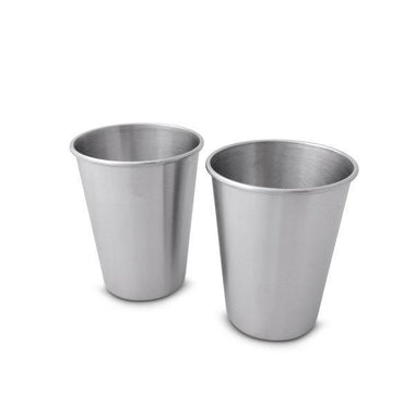 350ml Stainless Steel Cup - 2 Pack-Home & Garden > Kitchen & Dining > Tableware > Drinkware > Coffee & Tea Cups-Eqo Online