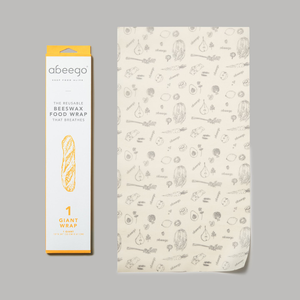 Abeego - Beeswax Compostable Food Wrap - Giant - 1 Flat-Home & Garden > Kitchen & Dining > Food Storage > Food Wraps > Wax Paper-Eqo Online