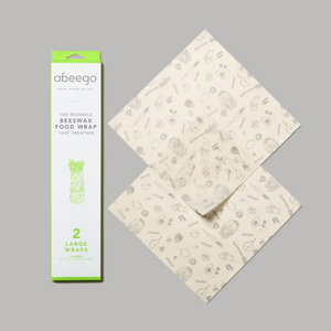 Abeego - Beeswax Compostable Food Wrap - Large - 2 Flats-Home & Garden > Kitchen & Dining > Food Storage > Food Wraps > Wax Paper-Eqo Online