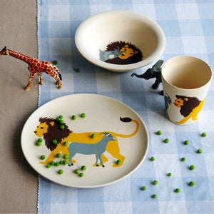 Bamboo Kids Dish Set - 3 piece set - Lion-Home & Garden > Kitchen & Dining > Tableware > Dinnerware-Eqo Online