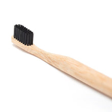 Load image into Gallery viewer, Bamboo Toothbrush with Charcoal Bristles-Health & Beauty > Personal Care > Oral Care > Toothbrushes-Eqo Online