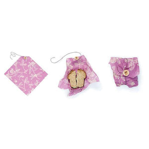 Bee's Wrap Sandwich Wrap - Purple Clover print-Home & Garden > Kitchen & Dining > Food & Beverage Carriers > Lunch Boxes & Totes-Eqo Online