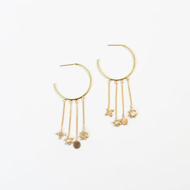 Constellation Hoop Earrings-Apparel & Accessories > Jewelry-Eqo Online
