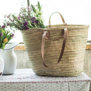 Double-handled French Market Basket-Luggage & Bags > Shopping Totes-Eqo Online