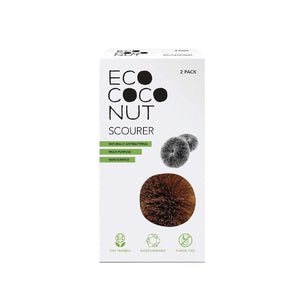 EcoCoconut - Scourers - Twin Pack-Home & Garden > Household Supplies > Household Cleaning Supplies > Sponges & Scouring Pads-Eqo Online
