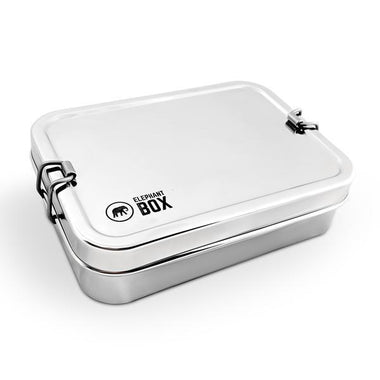 Elephant Box Single Tier Stainless Steel Lunch box-Home & Garden > Kitchen & Dining > Food & Beverage Carriers > Lunch Boxes & Totes-Eqo Online