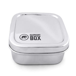 Elephant Box Square Snack Tin-Home & Garden > Kitchen & Dining > Food & Beverage Carriers > Lunch Boxes & Totes-Eqo Online