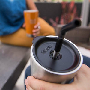Klean Kanteen 3 piece Reusable Straw & Lid set-Arts & Entertainment > Party & Celebration > Party Supplies > Drinking Straws & Stirrers-Eqo Online