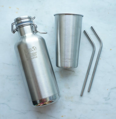 Klean Kanteen Festival Set - Growler, pint cup & straws-Home & Garden > Kitchen & Dining > Tableware > Drinkware > Coffee & Tea Cups-Eqo Online