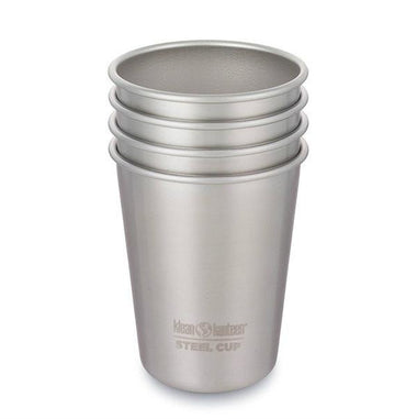 Klean Kanteen Stainless Steel Cups 296ml - 4 Pack-Home & Garden > Kitchen & Dining > Tableware > Drinkware > Coffee & Tea Cups-Eqo Online