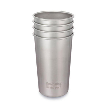 Klean Kanteen Stainless Steel Cups 473ml - 4 pack-Home & Garden > Kitchen & Dining > Tableware > Drinkware > Coffee & Tea Cups-Eqo Online