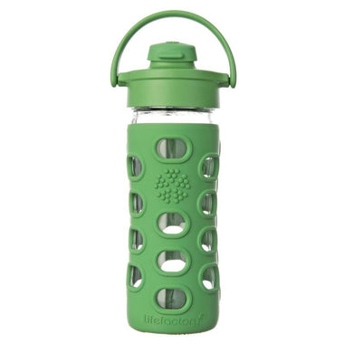 Lifefactory Glass Water Bottle 350ml Flip Cap-Home & Garden > Kitchen & Dining > Food & Beverage Carriers > Water Bottles-Eqo Online